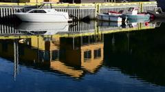 Newfoundland Boat Scenery Stock Footage