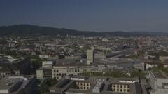 Zurich Skyline, Switzerlnad Stock Footage