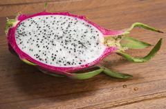Dragon fruit pitahaya pitaya tropical healthy Thai concept Stock Photos