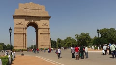 India Gate front close Stock Footage