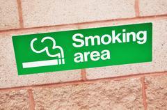 Smoking area sign Stock Photos