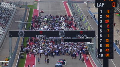 Fans on the grid at COTA, Circuit of the Americas Stock Footage