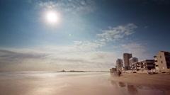 Summer day la manga sunset sea beach panorama 4k time lapse spain Stock Footage