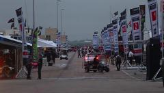 Race track paddock Stock Footage