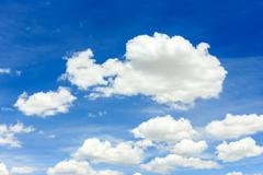Stock Photo of clouds on the blue sky