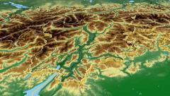 Trentino-Alto Adige - Italy autonomous region extruded. Bumps shaded - stock footage