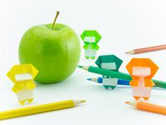 Origami Ninja with Apple Kuvituskuvat