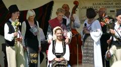 Wedding ritual from Romania. Stock Footage