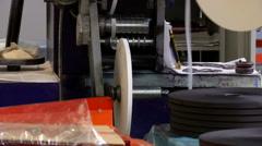 Paper tractor mechanism Stock Footage