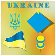 Set Ukrainian symbolism - stock illustration
