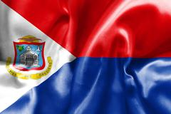 Sint Maarten Flag Stock Illustration