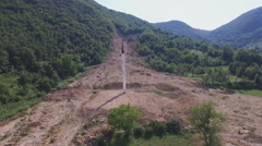 The mosque destroyed in landslides Stock Footage
