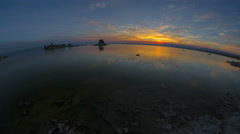 4K Mono Lake Morning Ultra-Wide Angle Sunrise Timelapse Stock Footage