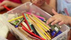 Stock Video Footage of Kids And Crayons 2