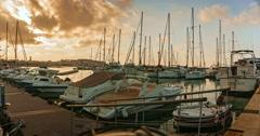 New Harbor of Rethymnon Crete Greece Stock Footage