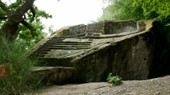 etruscan pyramid in Italy - stock footage