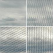 Gray cloudy sky. Collection of abstract multicolored backgrounds. Natural - stock illustration