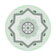 Round ornamental vector shape, celtic patterns, frames isolated on white - stock illustration