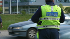 Sobriety police checkpoint Stock Footage