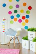 Unisex child's room - stock photo