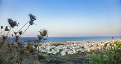View at Rethymnon Crete Greece Stock Footage