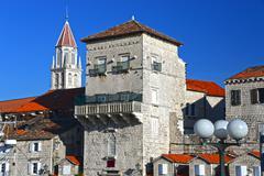 Stock Photo of Old town of Trogir in Dalmatia, Croatia on Adriatic coast.