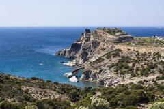 Gerontas beach at Milos island, Cyclades, Greece Stock Photos