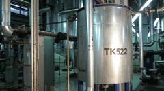Metal Circular Tanks in Manufacturing Stock Footage