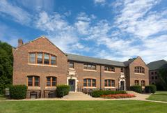 Steiner Hall on the campus of Grinell College - stock photo