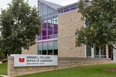 Grinnell College Office of Admission on the campus of Grinell College - stock photo