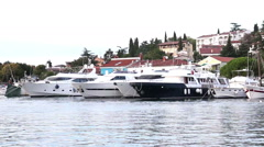 VRSAR, ISTRIA - AUG. 2015. Yachts - stock footage
