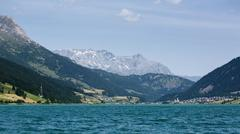 Lake in the Alps by Summer - stock photo