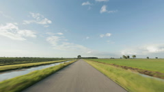 Driving on an Empty Rural Road Stock Footage