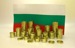 finance concept with Bulgarian flag - stock illustration