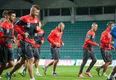 Adam nemec and slovak national soccer team players Stock Photos