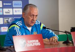 Soccer team head coach Mykhailo Fomenko Stock Photos