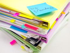 The Pile of Business Documents; By Monday Stock Photos