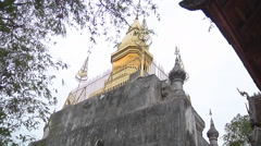 Monastery monument in Luang Prabang, Laos Stock Footage