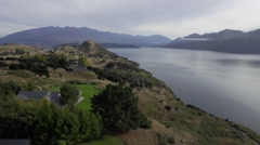 Aerial Footage of Lake Wanaka 1 Stock Footage