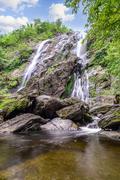 Khlong Lan waterfall in national park, Kamphaeng Phet Thailand. Stock Photos