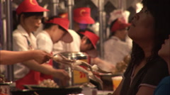 Stock Video Footage of Cooking street food, Beijing, China