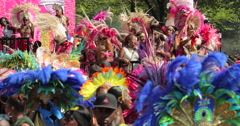 Carnival festival parade Stock Footage