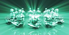 Stock Illustration of Spiritual Healing
