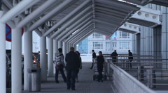 Airport departures, modern China Stock Footage