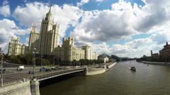 Skyscraper on Kotelnicheskaya embankment in Moscow Stock Footage