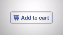Add to cart button animation Stock Footage