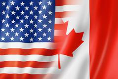 USA and Canada flag Stock Illustration