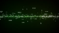 Binary Bits And Bytes Green - stock footage