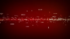 Binary Bits And Bytes Red - stock footage