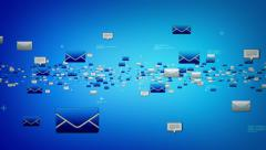 EMails And Text Messages Blue Stock Footage